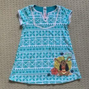 Disney Moana Turquoise Printed Dress